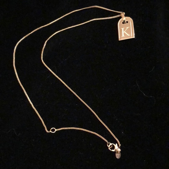23c4e43a0d163f Bronzo Italia Jewelry | New Rose Initial K Tag Necklace | Poshmark